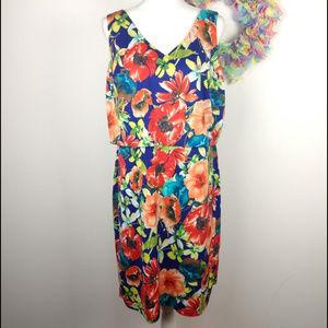 Shelby & Palmer Floral Dress Stretch Sleeveless XL